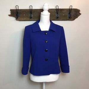 Tahari Blazer Royal Blue Button Front